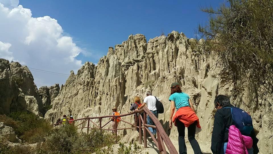 La Paz'ın Hemen Yanıbaşınada, Valle De La Luna (Ay Vadisi)'da ki Dağ Oluşumlar