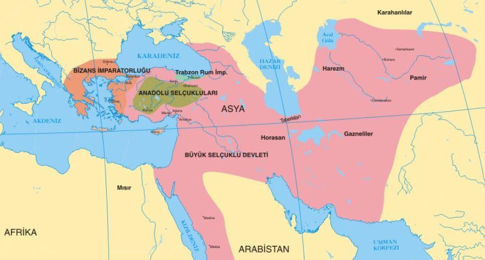 Selçuklu Devleti Haritası