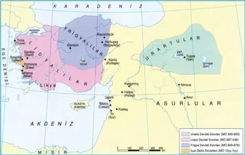 Van Tarihi; Urartu Haritası