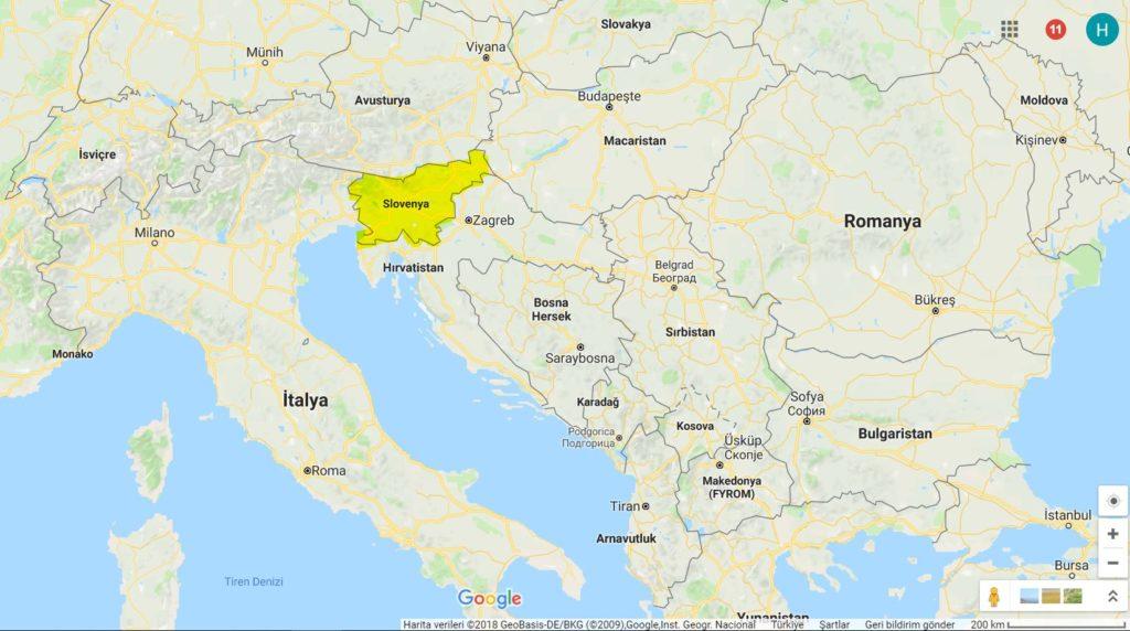 Slovenya Haritadaki Yeri