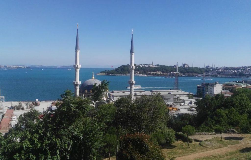İstanbul Sanat Parkından Marmara ve Tarihi Yarımadanın Görünüşü