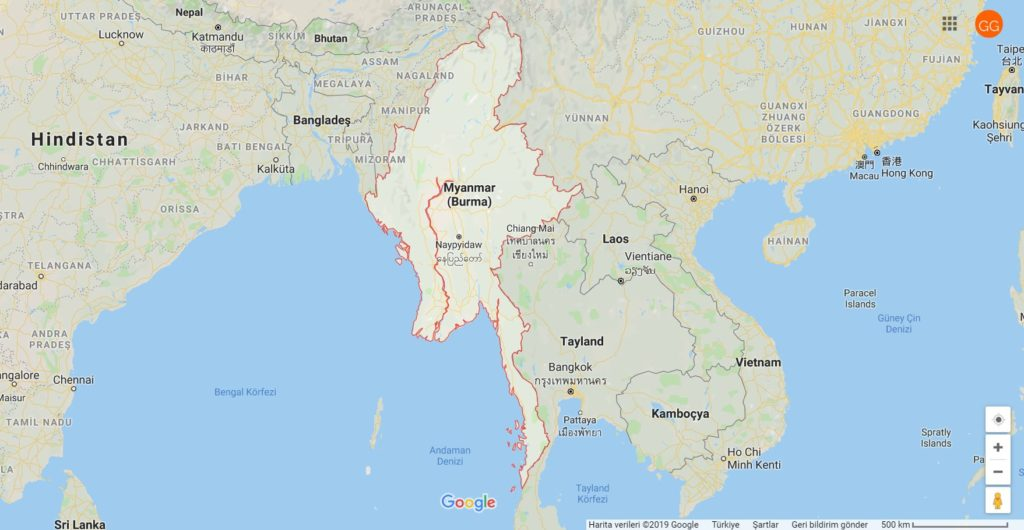 Myanmar Neredeve Myanmar'ın Komşuları