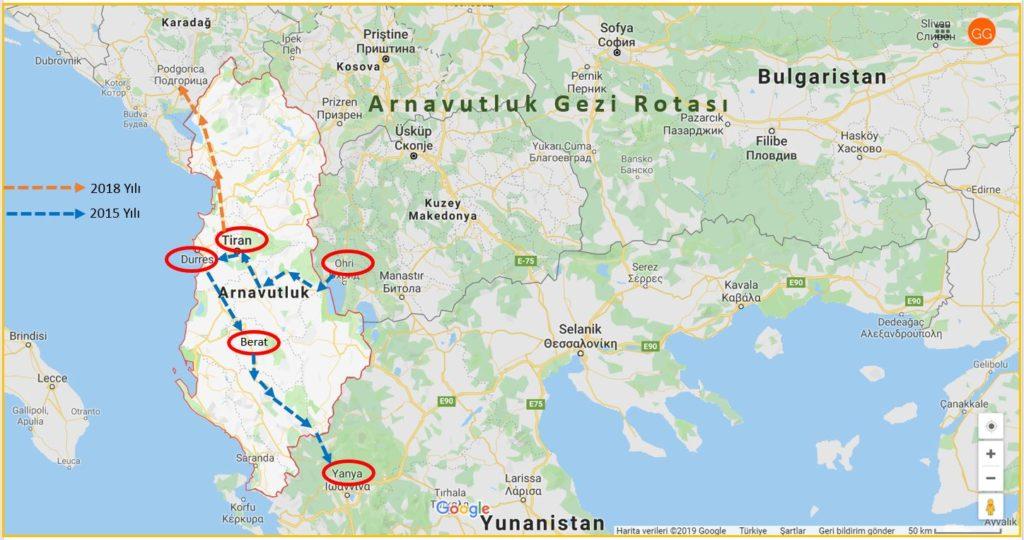 Arnavutluk Gezi Rotası
