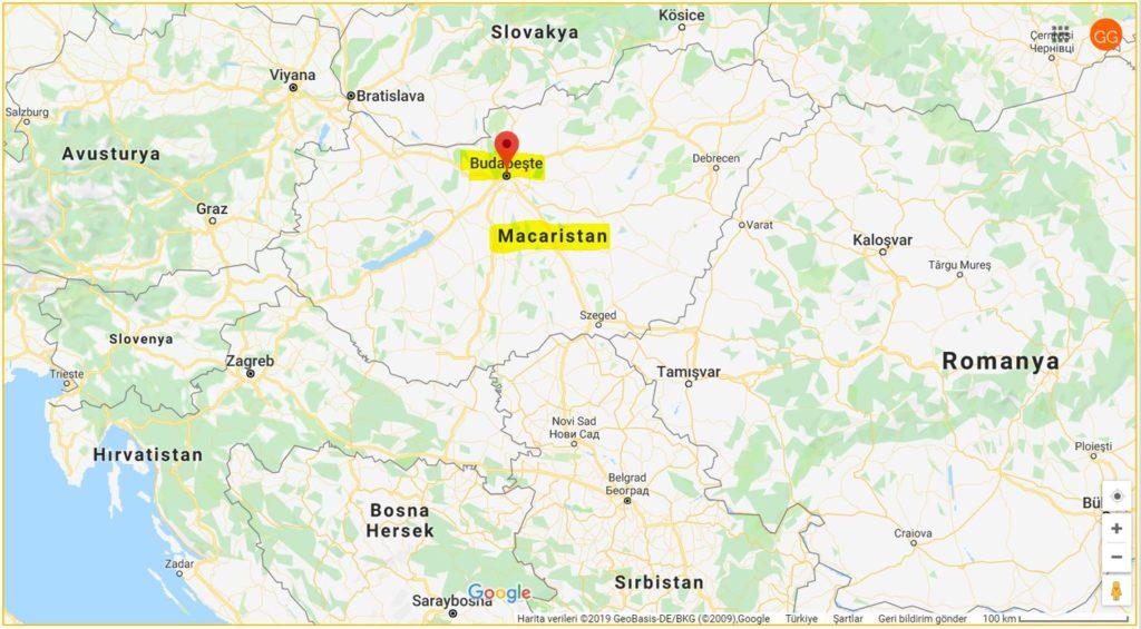 Budapeşte ile Macaristan'ın Haritadaki Yeri ve Komşuları