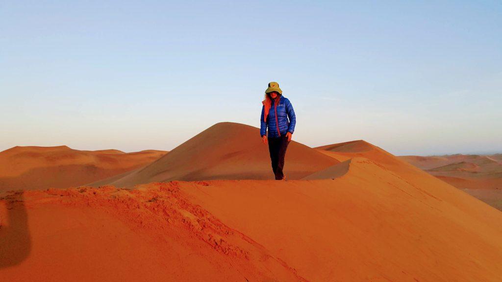 Namibya Çölünde Gün Doğumu