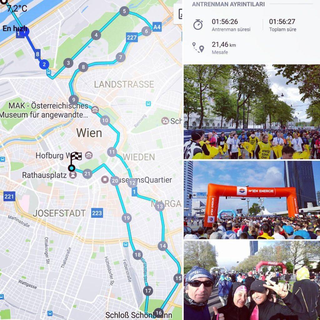 Viyana Yarı Maratonu Parkur ve Derecelerimiz