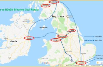 İrlanda ve Büyük Britanya Gezi Rotası