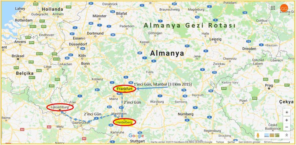 Almanya Gezi Rotası