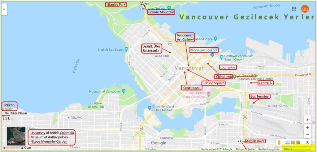 Vancouver Gezilecek Yerler