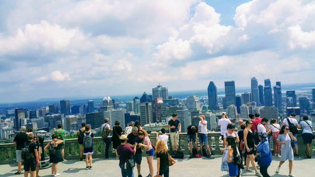 Parc du Mont Royal'dan Montreal'ın Görünüşü