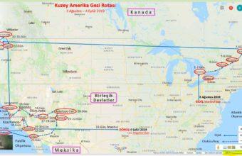 Kuzey Amerika Gezi Rotası