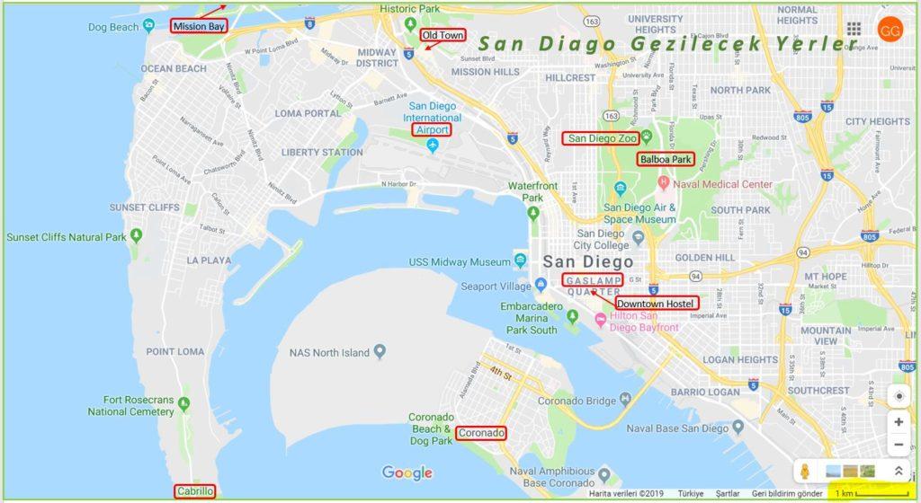 San Diago Gezilecek Yerler