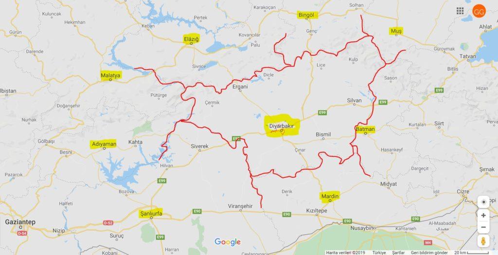 Diyarbakır'ın Haritadaki Yeri